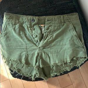Free People dark green shorts, size 6